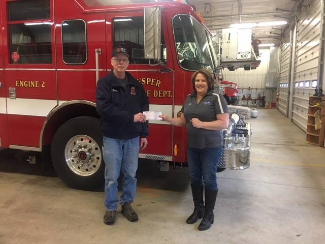 Vesper Volunteer Fire Department was recently awarded $1,000 from Mutual Of Wausau Insurance