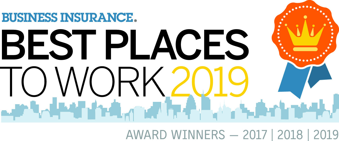 2017, 2018, 2019 Best Places to Work Insurance Award Winners