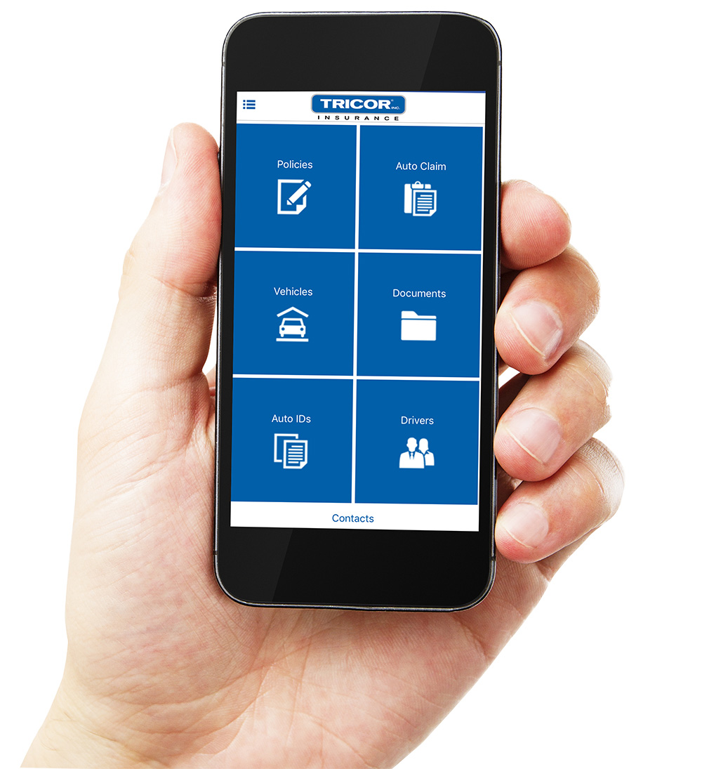 TRICOR Insurance Mobile App, Available for Android and iPhone. Download it today and access all of your account info.